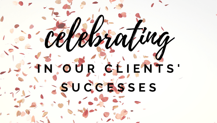 Celebrating in our client's successes